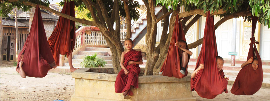 Buddhist Novices in a monastery around Kyaukme