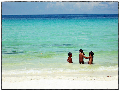 Kids Swimming in Boracay